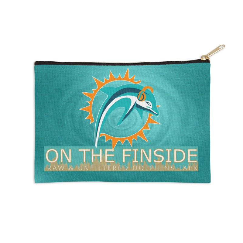 FinSide Teal Glow Accessories Zip Pouch by On The Fin Side's Artist Shop