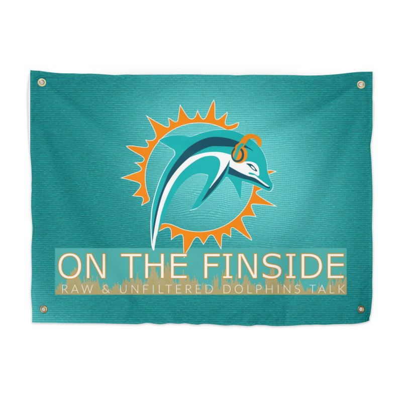FinSide Teal Glow Home Tapestry by On The Fin Side's Artist Shop