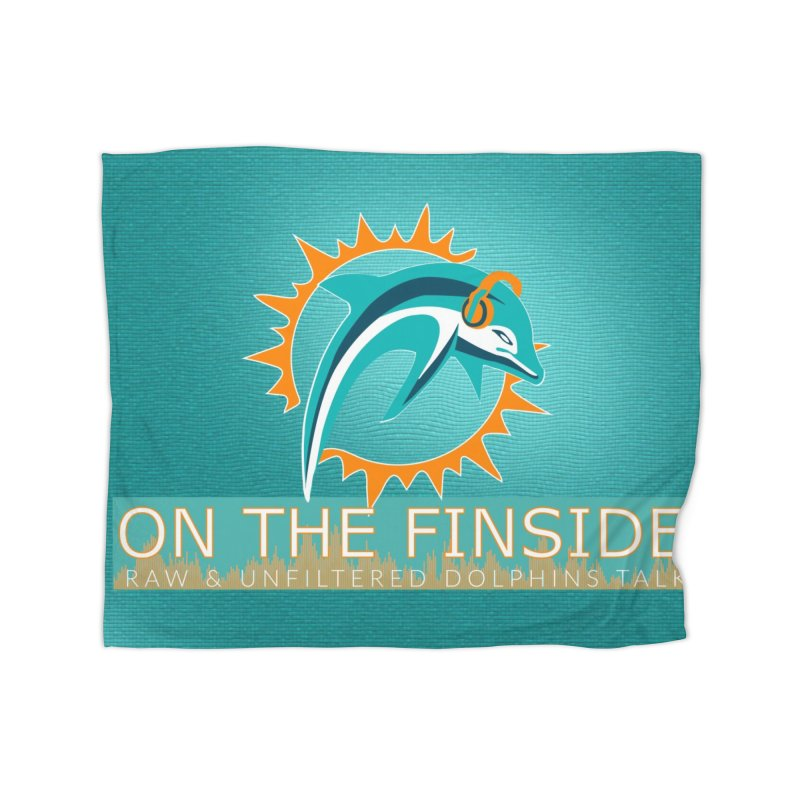 FinSide Teal Glow Home Blanket by OnTheFinSide's Artist Shop