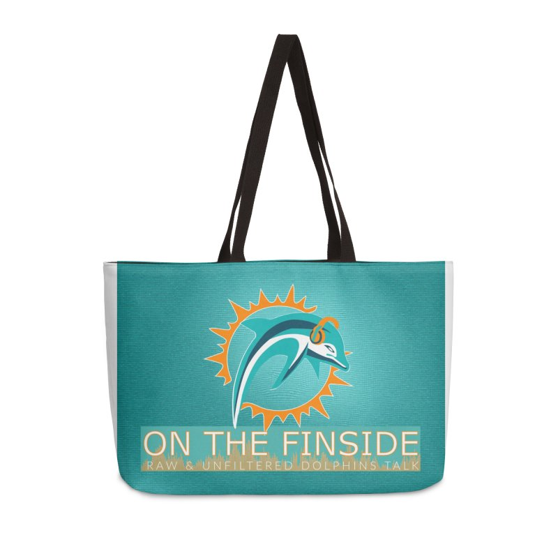 FinSide Teal Glow Accessories Weekender Bag Bag by On The Fin Side's Artist Shop