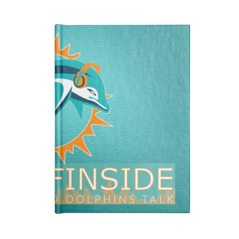 FinSide Teal Glow Accessories Lined Journal Notebook by On The Fin Side's Artist Shop
