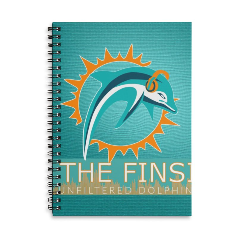 FinSide Teal Glow Accessories Notebook by On The Fin Side's Artist Shop
