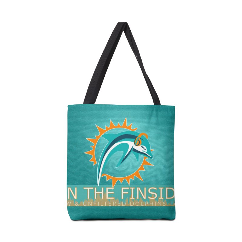 FinSide Teal Glow Accessories Tote Bag Bag by On The Fin Side's Artist Shop