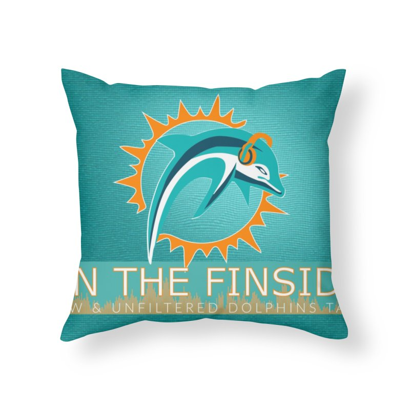FinSide Teal Glow Home Throw Pillow by On The Fin Side's Artist Shop