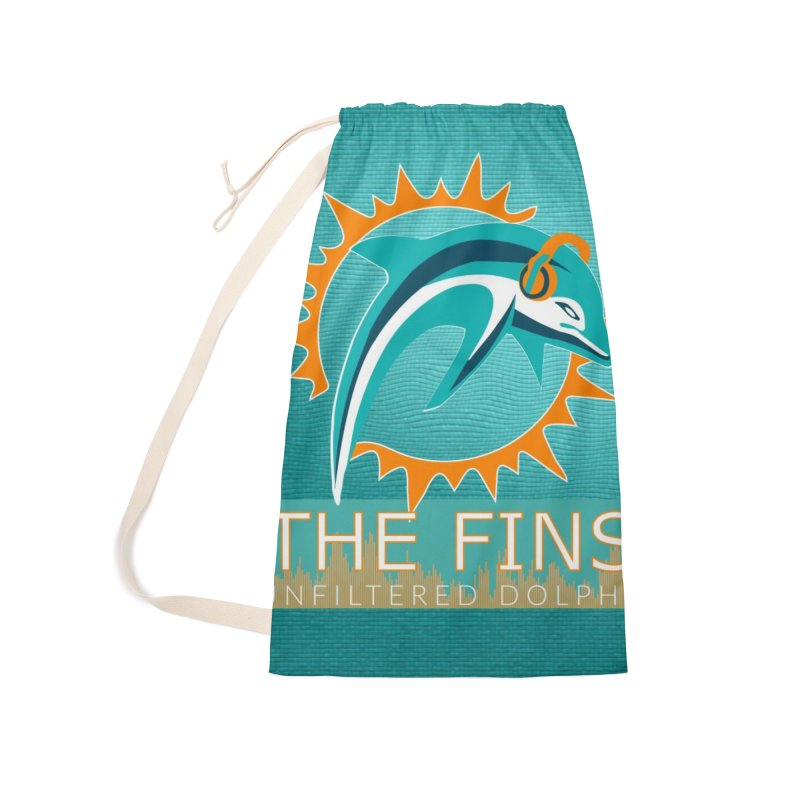 FinSide Teal Glow Accessories Laundry Bag Bag by On The Fin Side's Artist Shop