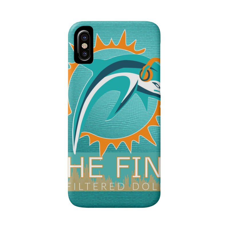 FinSide Teal Glow Accessories Phone Case by On The Fin Side's Artist Shop
