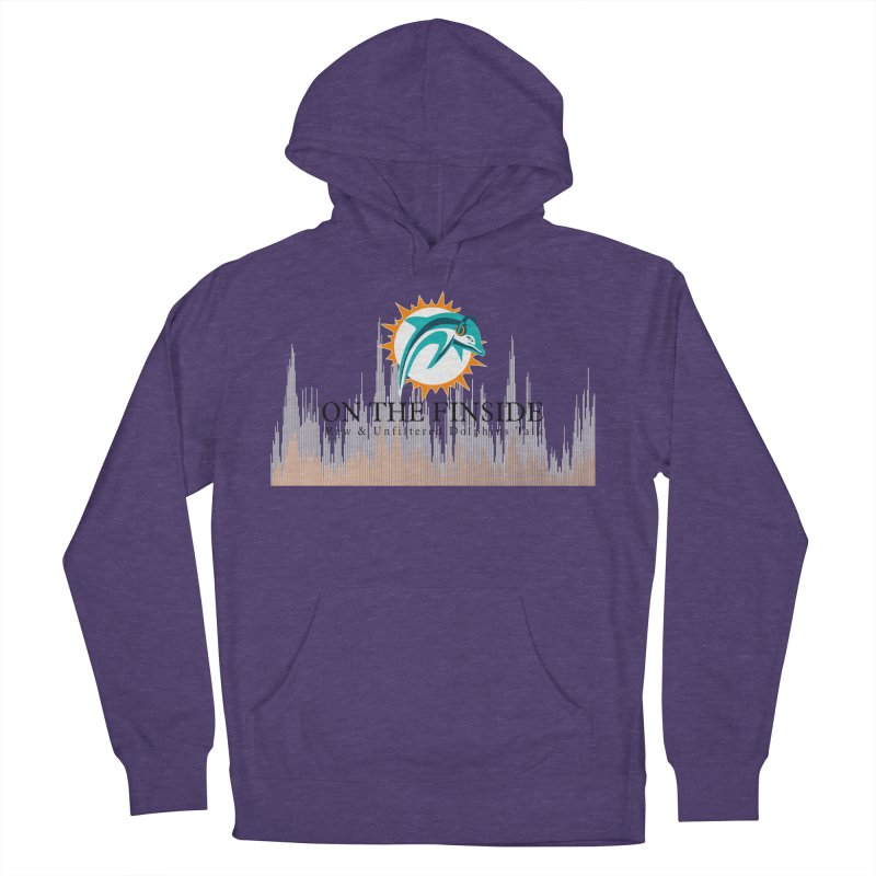 Blazing DolFan Women's French Terry Pullover Hoody by On The Fin Side's Artist Shop