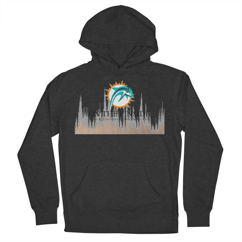Blazing DolFan Men's French Terry Pullover Hoody by On The Fin Side's Artist Shop