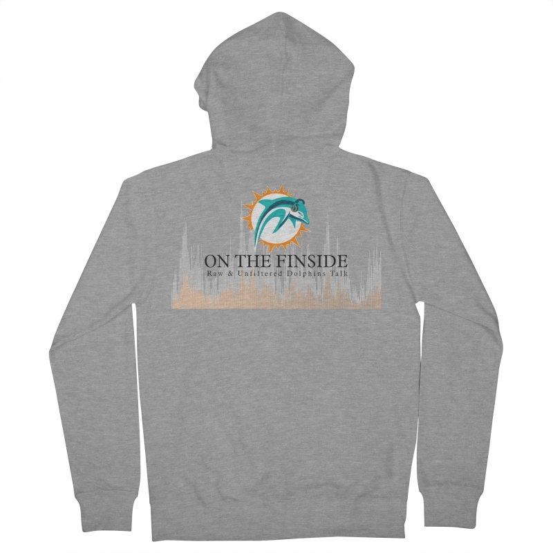Blazing DolFan Men's French Terry Zip-Up Hoody by OnTheFinSide's Artist Shop