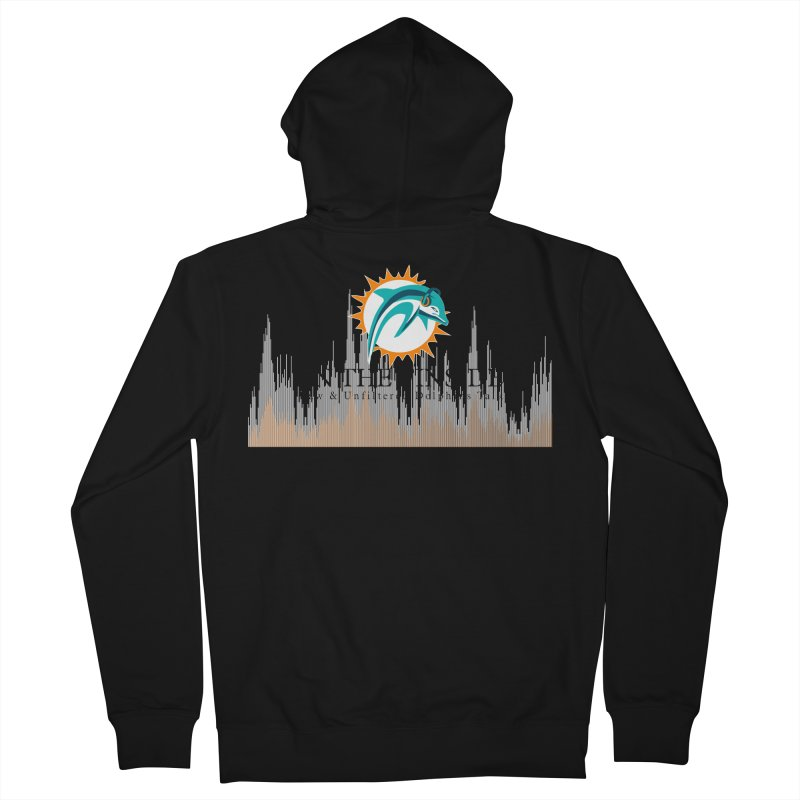 Blazing DolFan Men's Zip-Up Hoody by On The Fin Side's Artist Shop