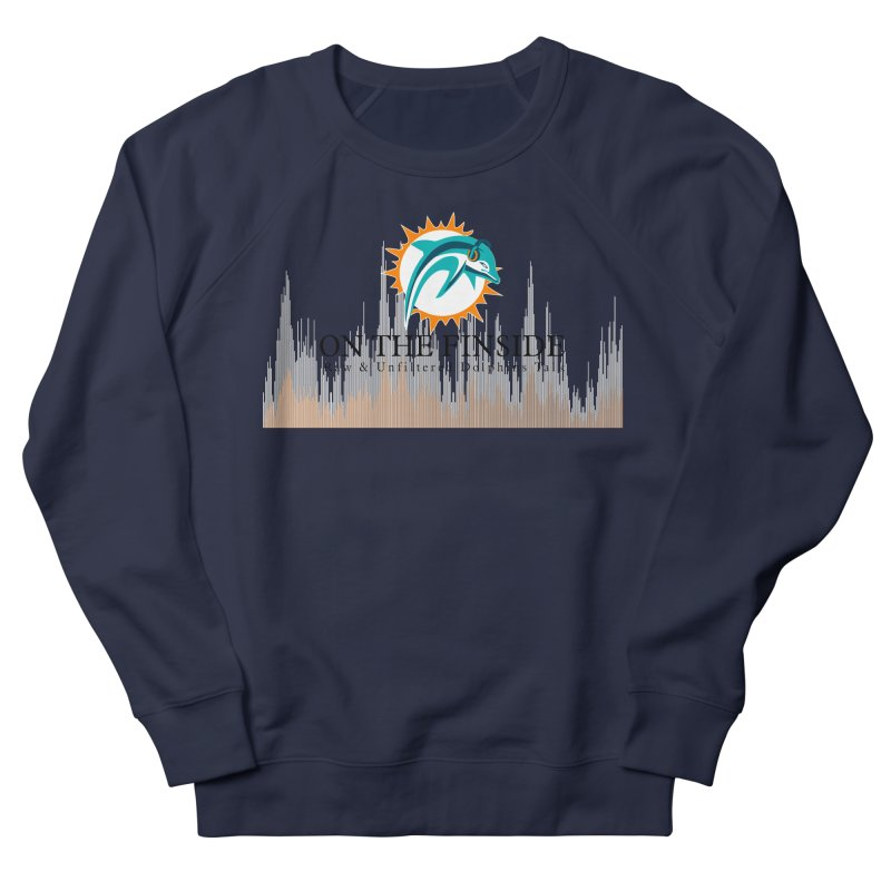 Blazing DolFan Men's French Terry Sweatshirt by OnTheFinSide's Artist Shop