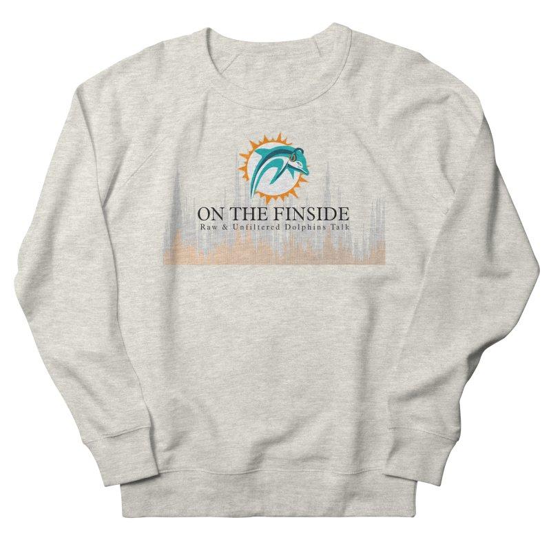 Blazing DolFan Men's French Terry Sweatshirt by On The Fin Side's Artist Shop