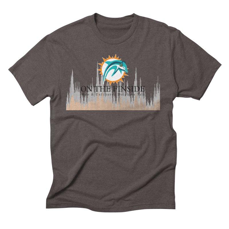 Blazing DolFan Men's Triblend T-Shirt by OnTheFinSide's Artist Shop