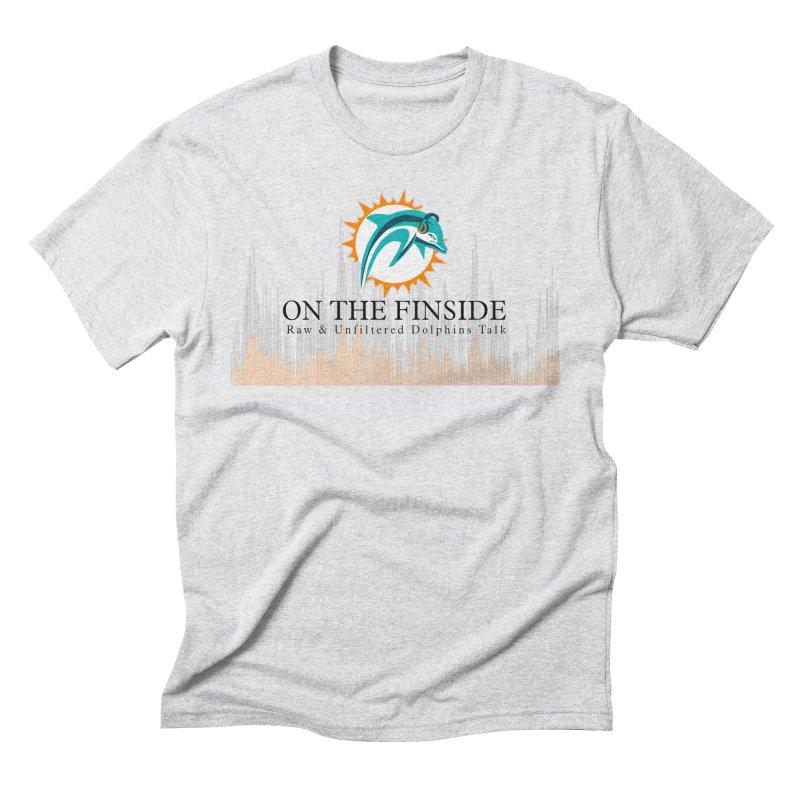 Blazing DolFan Men's Triblend T-Shirt by On The Fin Side's Artist Shop