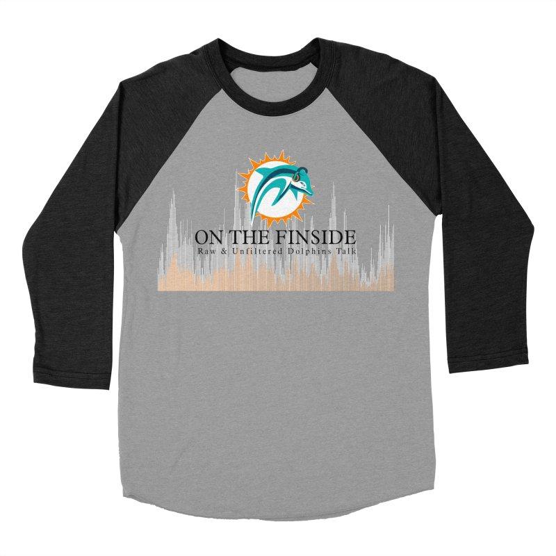 Blazing DolFan Women's Baseball Triblend Longsleeve T-Shirt by OnTheFinSide's Artist Shop