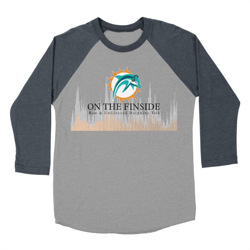 Blazing DolFan Women's Baseball Triblend Longsleeve T-Shirt by On The Fin Side's Artist Shop