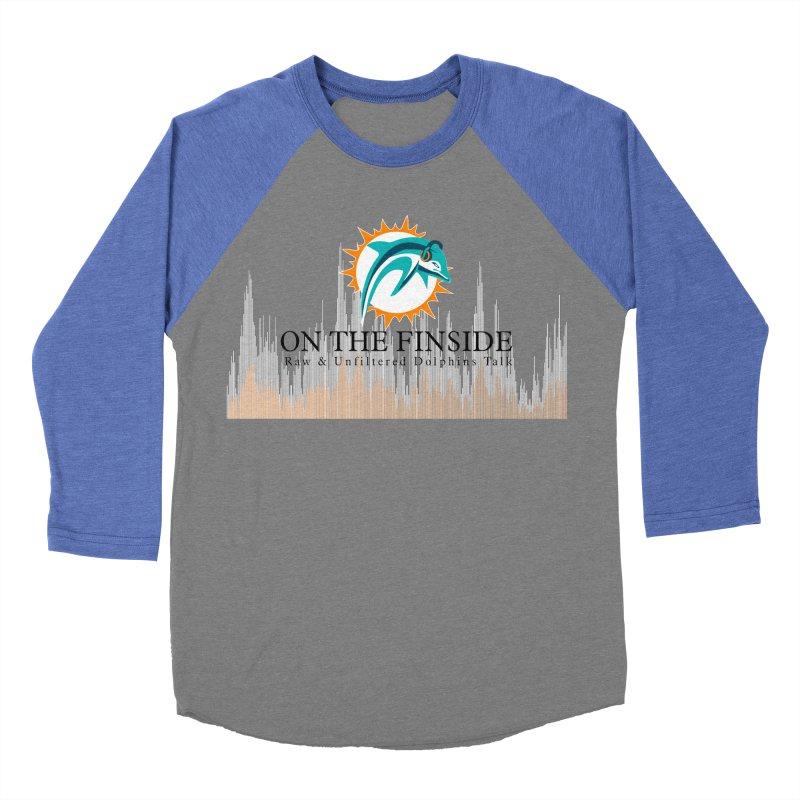 Blazing DolFan Men's Baseball Triblend Longsleeve T-Shirt by OnTheFinSide's Artist Shop