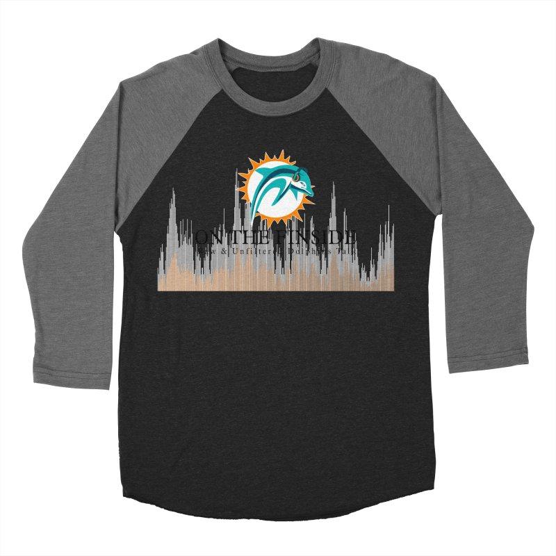 Blazing DolFan Men's Baseball Triblend Longsleeve T-Shirt by On The Fin Side's Artist Shop