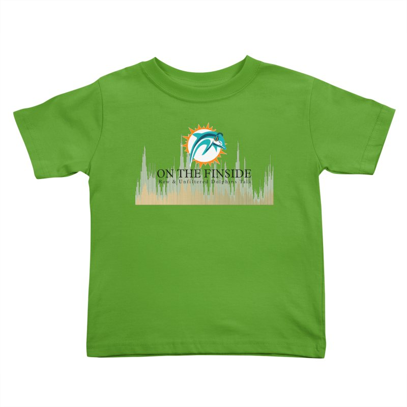 Blazing DolFan Kids Toddler T-Shirt by OnTheFinSide's Artist Shop