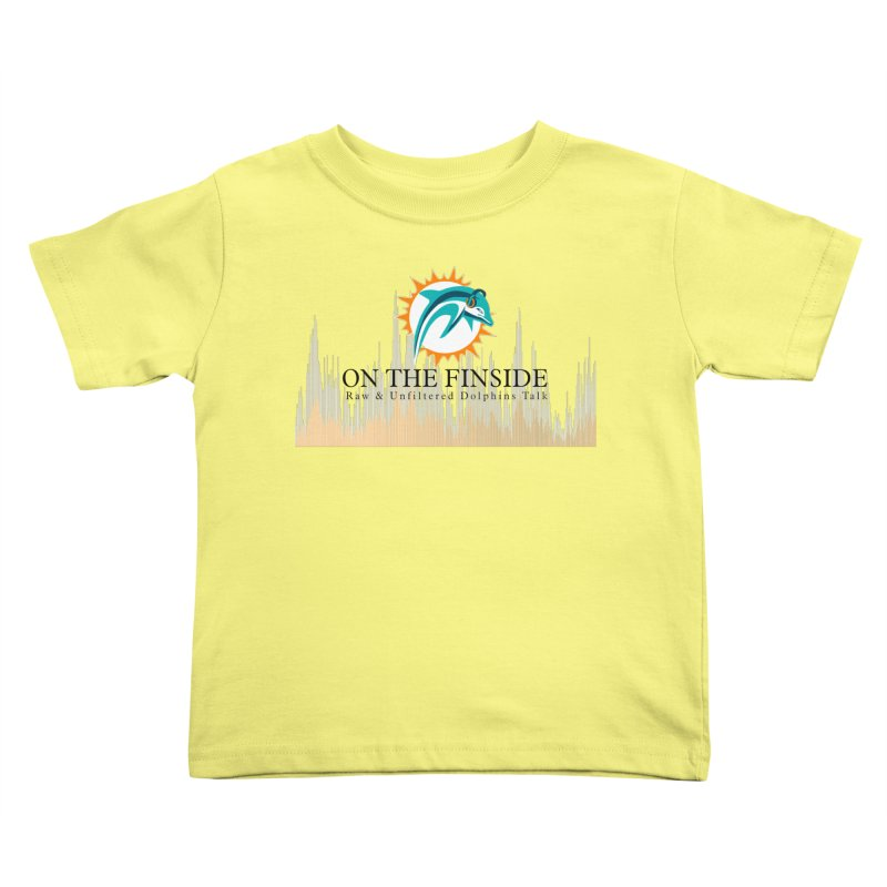 Blazing DolFan Kids Toddler T-Shirt by On The Fin Side's Artist Shop