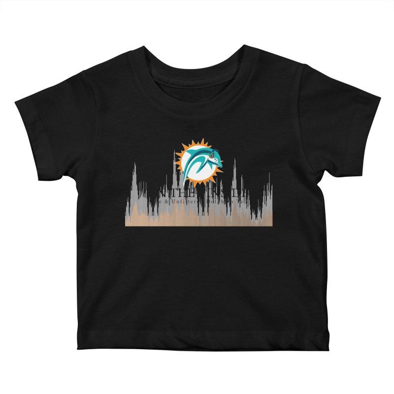 Blazing DolFan Kids Baby T-Shirt by On The Fin Side's Artist Shop