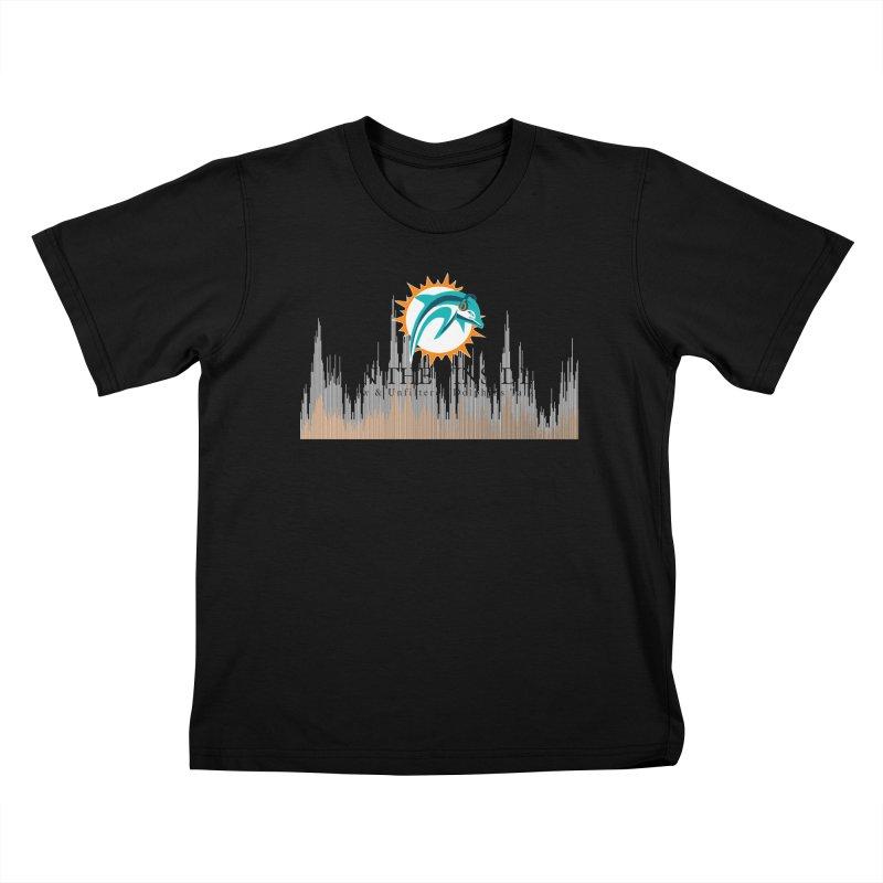 Blazing DolFan Kids T-Shirt by On The Fin Side's Artist Shop