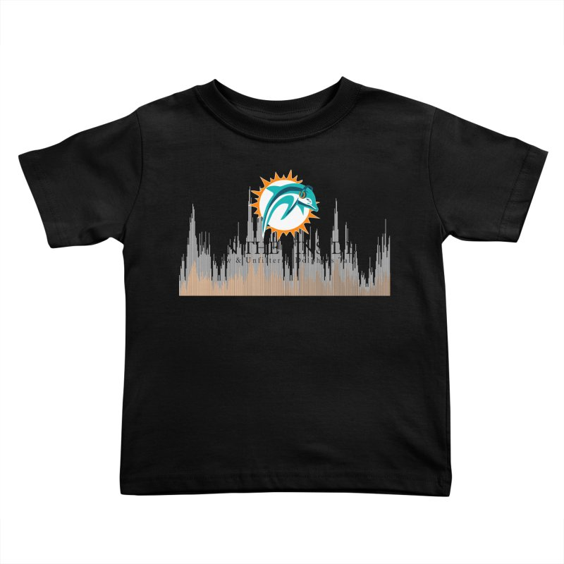Blazing DolFan Kids Toddler T-Shirt by On The Fin Side's Artist Shop