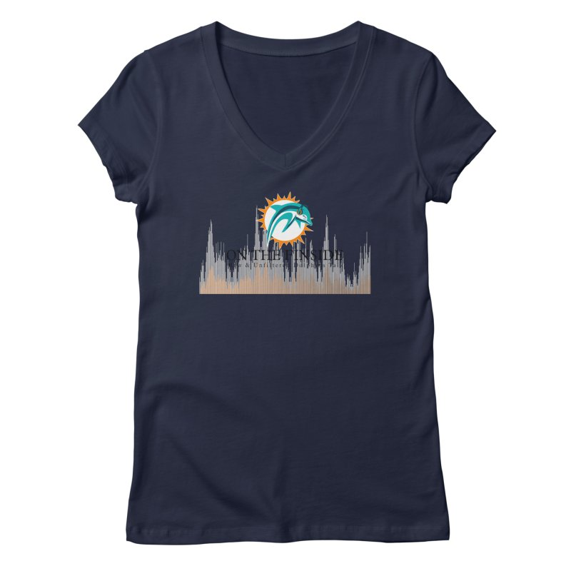 Blazing DolFan Women's Regular V-Neck by OnTheFinSide's Artist Shop