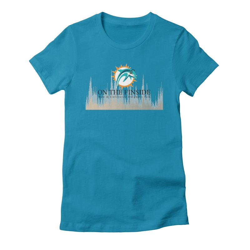 Blazing DolFan Women's Fitted T-Shirt by On The Fin Side's Artist Shop