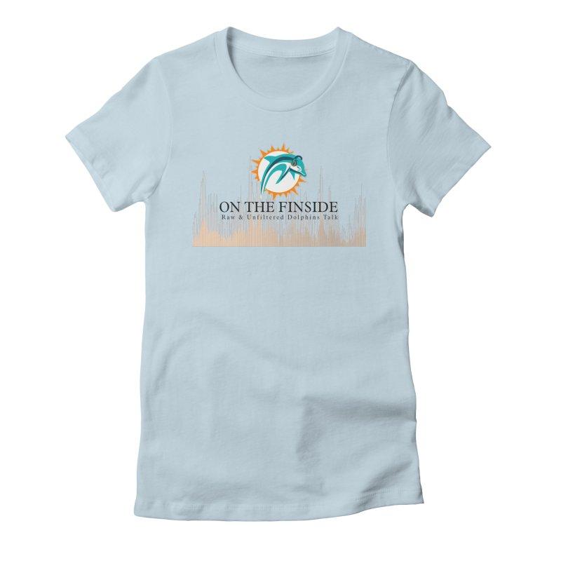 Blazing DolFan Women's Fitted T-Shirt by OnTheFinSide's Artist Shop