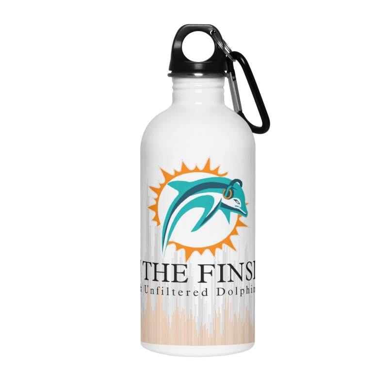 Blazing DolFan in Water Bottle by On The Fin Side's Artist Shop