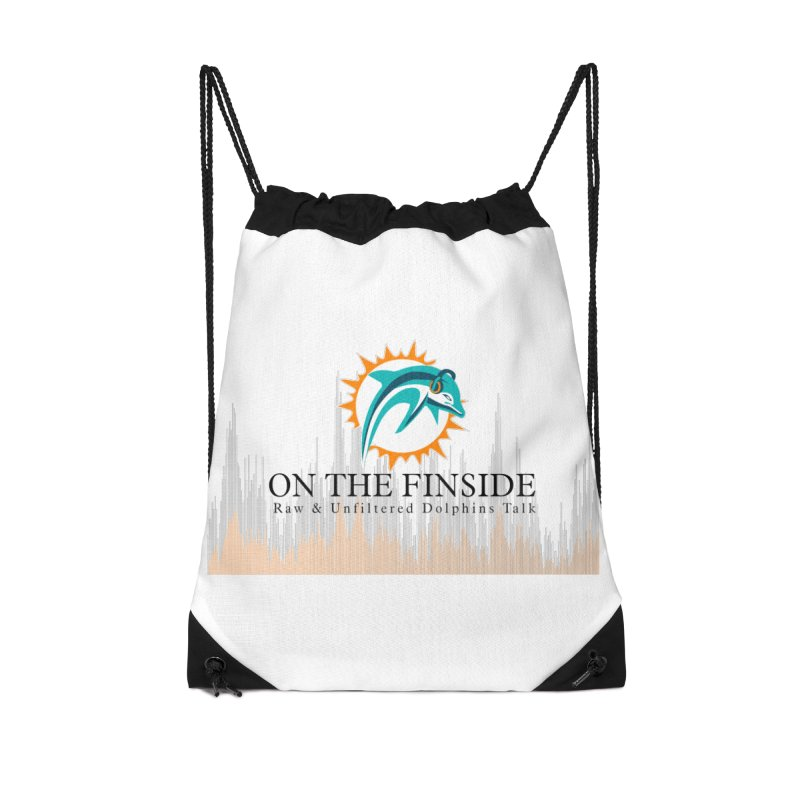Blazing DolFan Accessories Drawstring Bag Bag by On The Fin Side's Artist Shop
