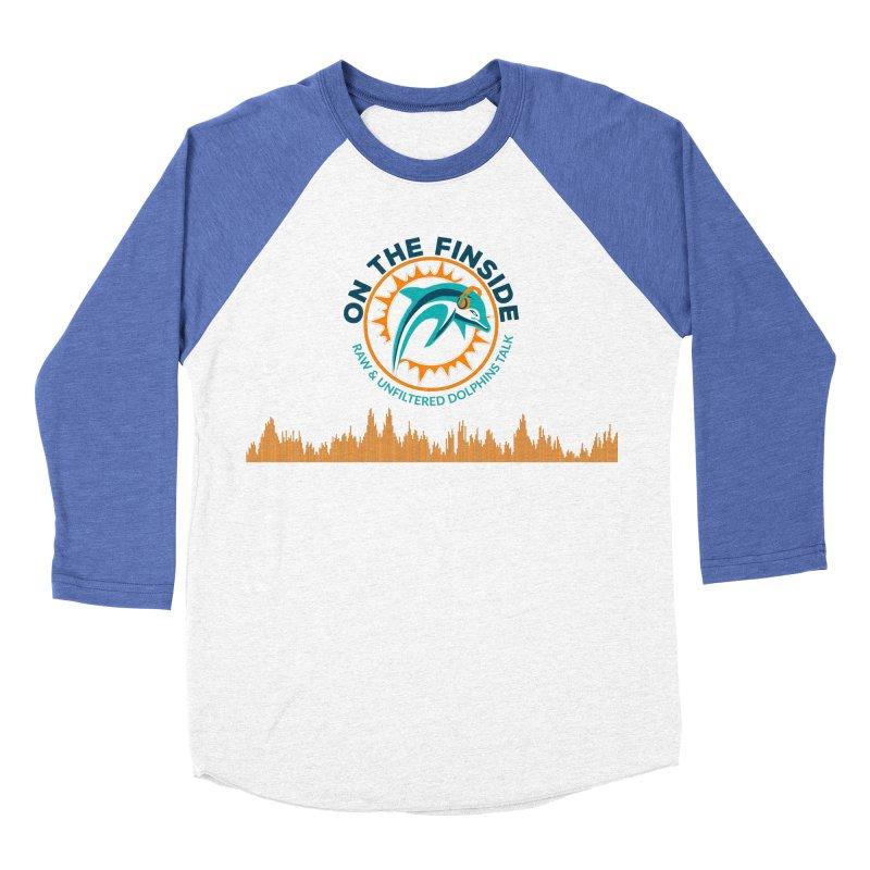 FinSide Bullet Men's Baseball Triblend T-Shirt by OnTheFinSide's Artist Shop