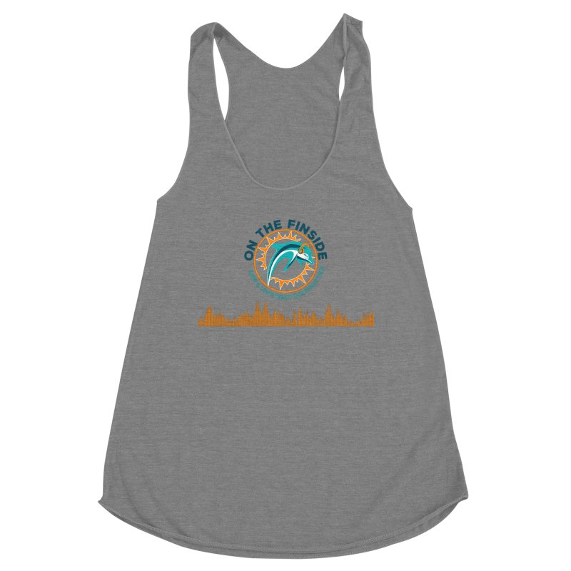 FinSide Bullet Women's Racerback Triblend Tank by On The Fin Side's Artist Shop