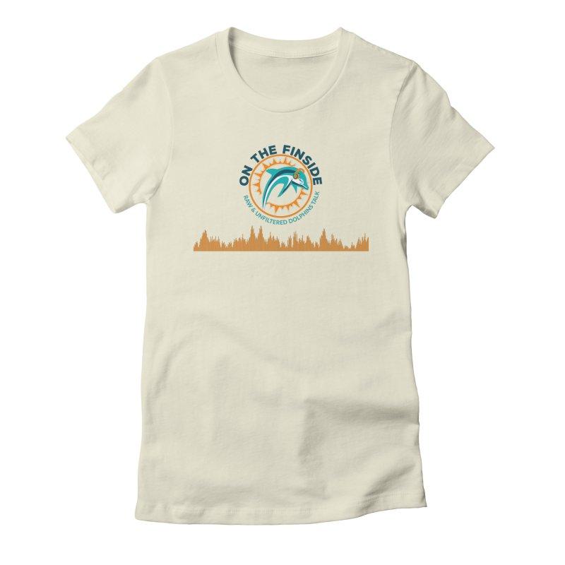 FinSide Bullet Women's Fitted T-Shirt by OnTheFinSide's Artist Shop
