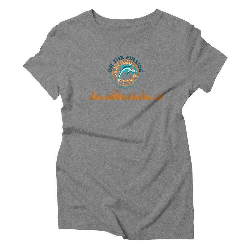 FinSide Bullet Women's Triblend T-Shirt by OnTheFinSide's Artist Shop