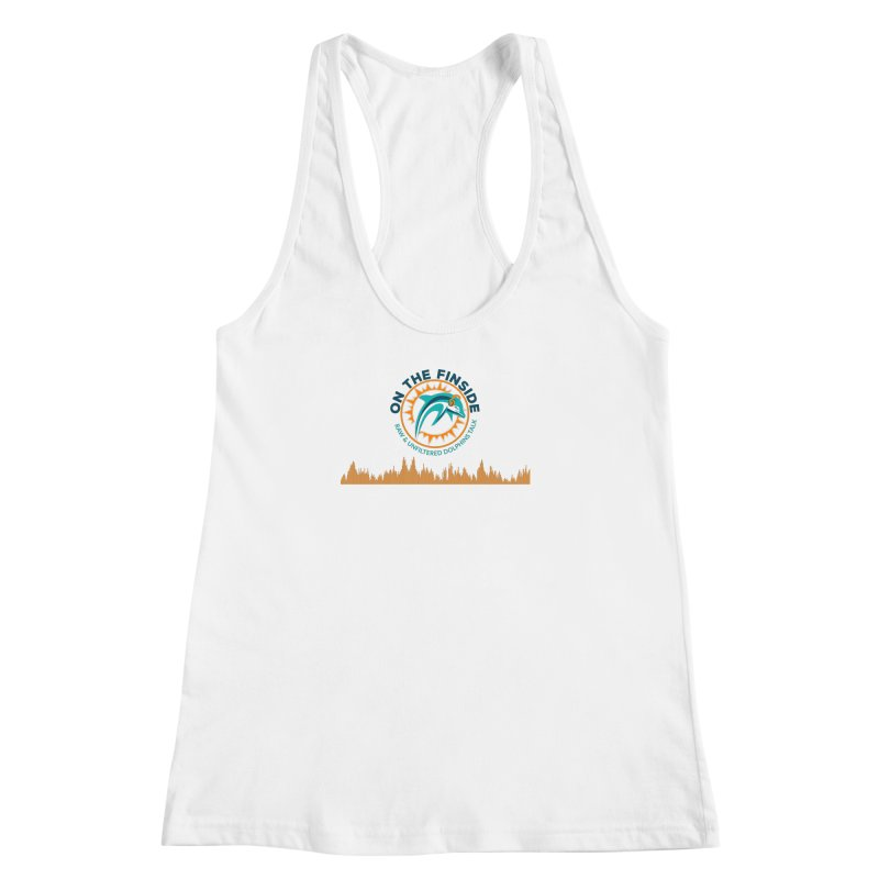 FinSide Bullet in Women's Racerback Tank White by On The Fin Side's Artist Shop