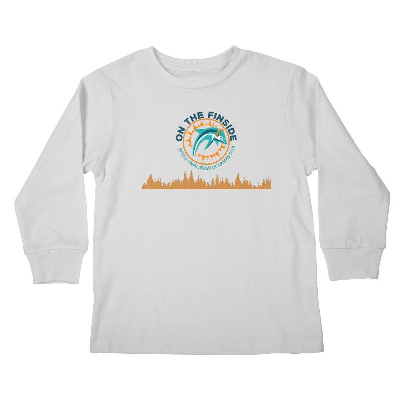 FinSide Bullet in Kids Longsleeve T-Shirt Heather Grey by On The Fin Side's Artist Shop