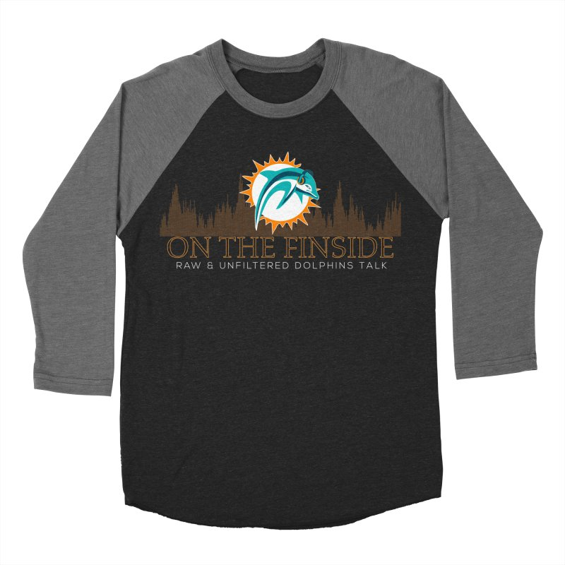 Clear Fire in Men's Baseball Triblend Longsleeve T-Shirt Grey Triblend Sleeves by On The Fin Side's Artist Shop
