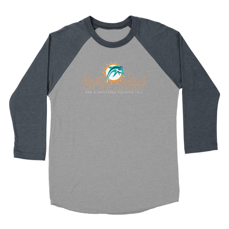 Clear Fire Men's Baseball Triblend Longsleeve T-Shirt by On The Fin Side's Artist Shop