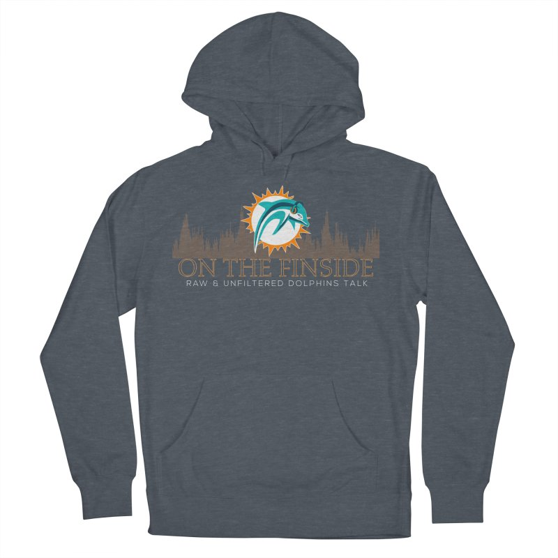 Clear Fire Men's French Terry Pullover Hoody by On The Fin Side's Artist Shop