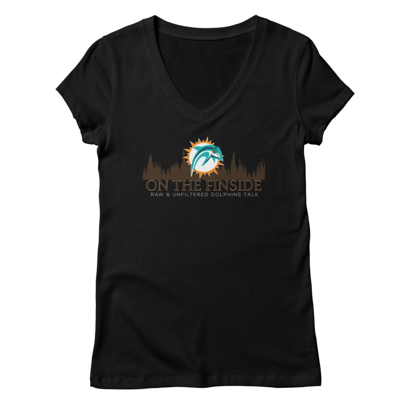 Clear Fire Women's V-Neck by On The Fin Side's Artist Shop
