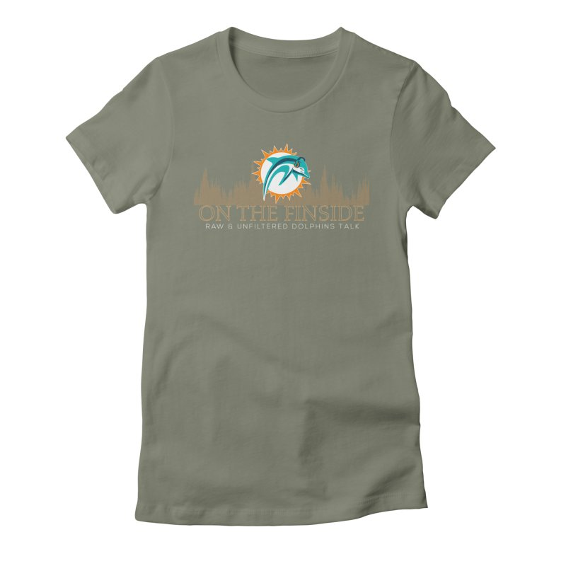 Clear Fire Women's Fitted T-Shirt by On The Fin Side's Artist Shop