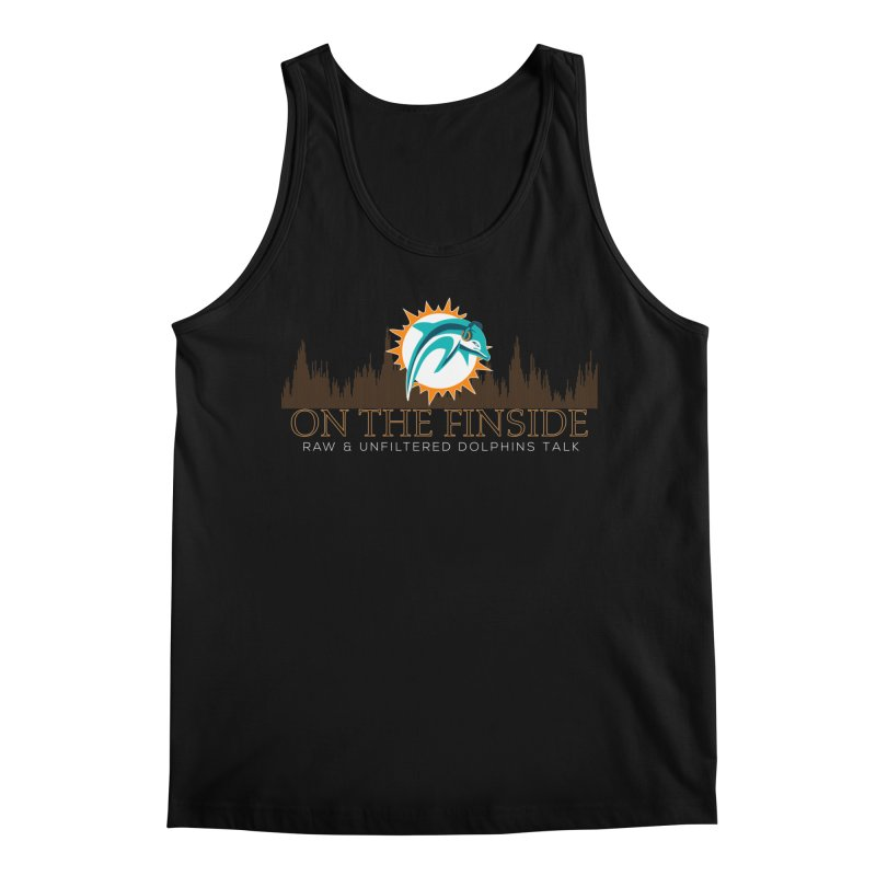 Clear Fire in Men's Regular Tank Black by On The Fin Side's Artist Shop