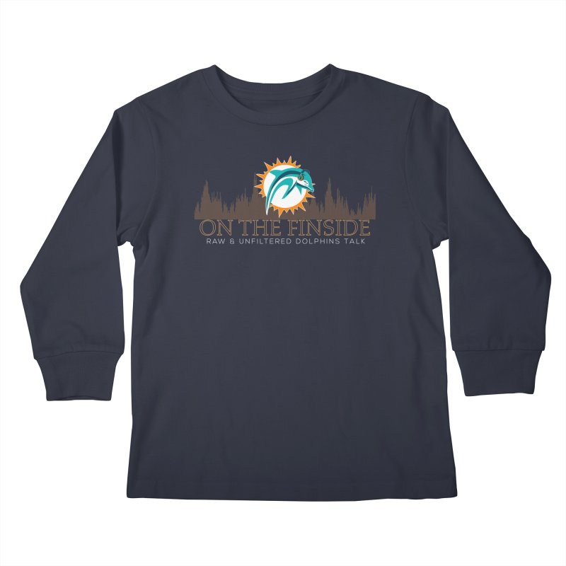 Clear Fire Kids Longsleeve T-Shirt by On The Fin Side's Artist Shop