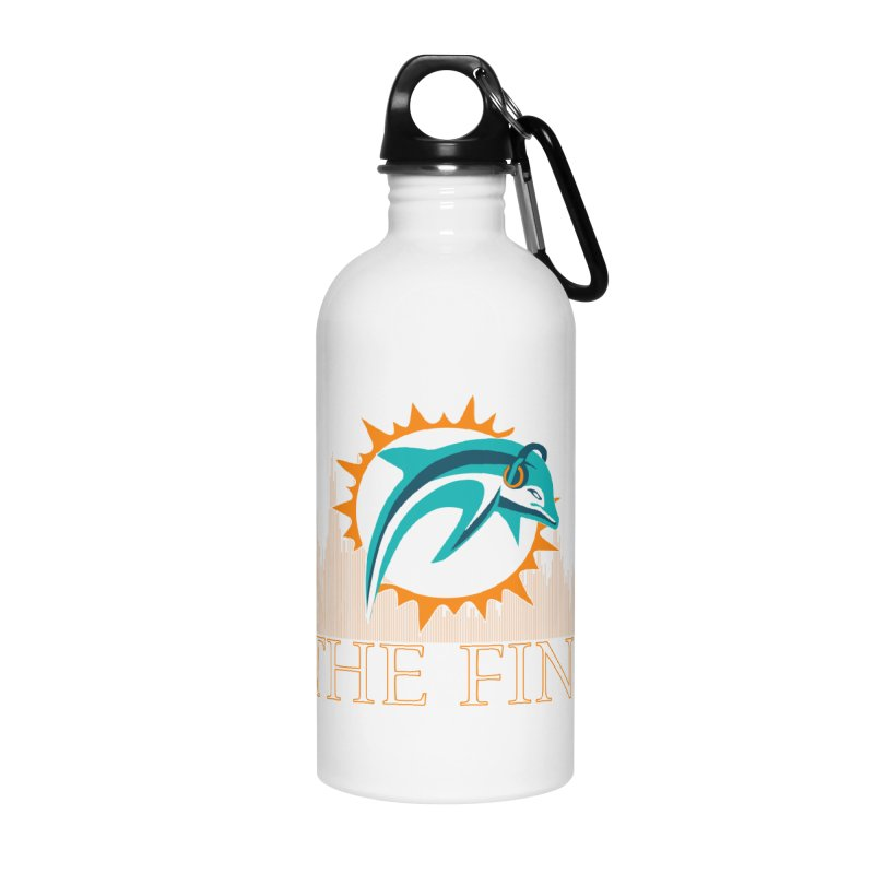 Clear Fire Accessories Water Bottle by On The Fin Side's Artist Shop