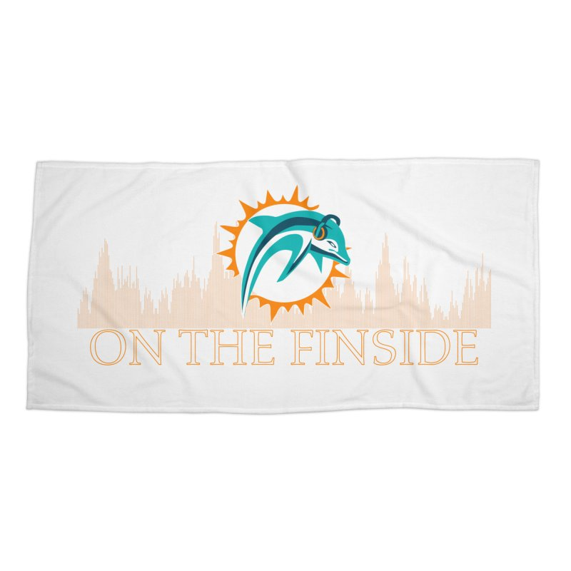 Clear Fire Accessories Beach Towel by On The Fin Side's Artist Shop