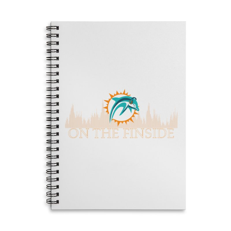 Clear Fire Accessories Lined Spiral Notebook by On The Fin Side's Artist Shop