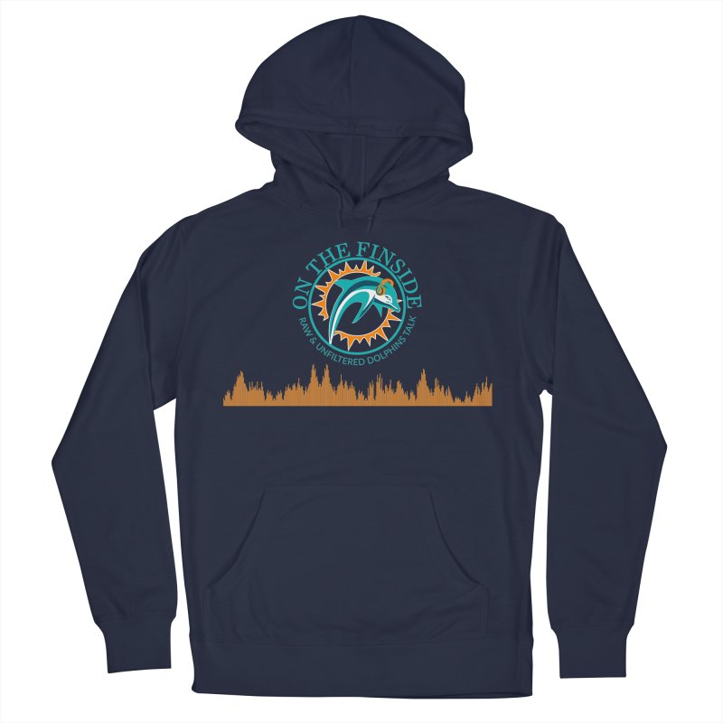 Aqua Bullet in Men's French Terry Pullover Hoody Navy by OnTheFinSide's Artist Shop