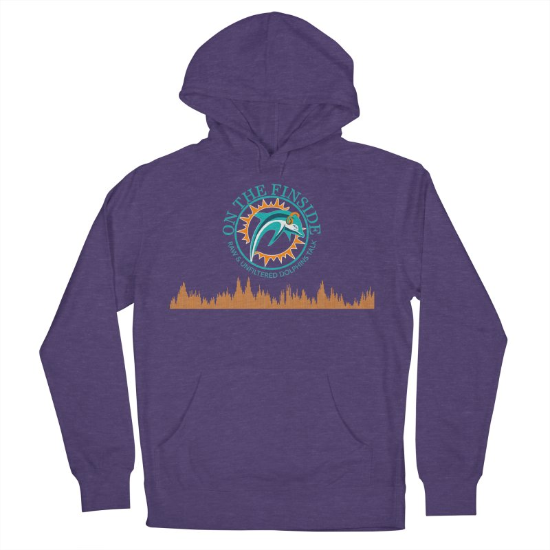 Aqua Bullet Women's French Terry Pullover Hoody by On The Fin Side's Artist Shop